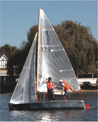Paper Jet plywood sailing dinghy