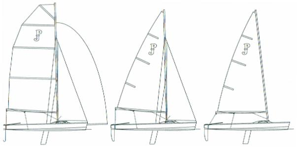 Paper Jet 14 plywood sailing dinghy