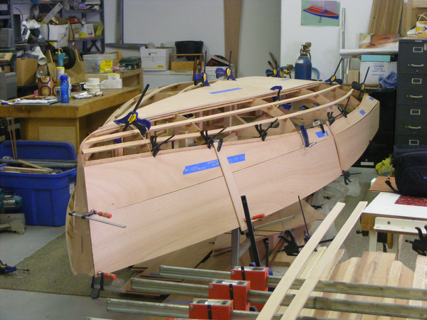 DS15 radius chine plywood sailboat build photo