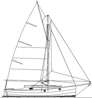 Cape Charles 32 gaff rig