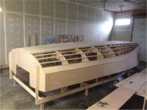 DS15 radius chine plywood boat plans