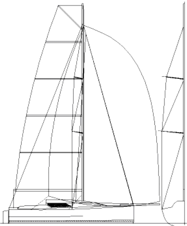 Didi 950 radius chine plywood Class 950 sailplan