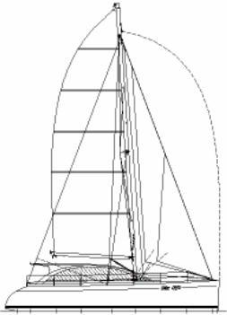 47ft Radius chine plywood catamaran