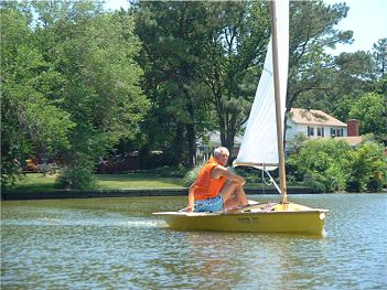 Paper Jet sailing dinghy